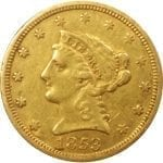 US $2.50 Indian Gold coins