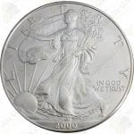 2000 1 oz uncirculated American Silver Eagle