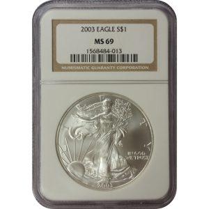 2003 American Silver Eagle - 1 oz - NGC MS69 - Nashville Coin Gallery