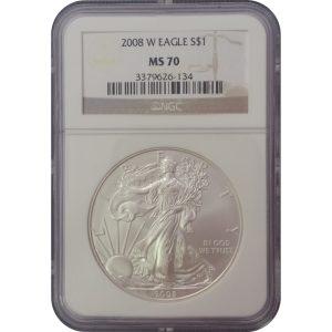 2008-W American Silver Eagle coin
