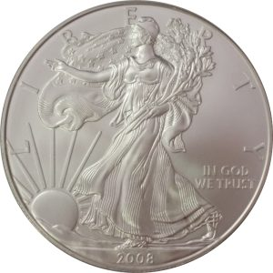 2008 1 oz American Silver Eagle coin