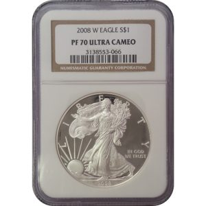 2008 American Silver Eagle -- NGC PF70 ULTRA CAMEO