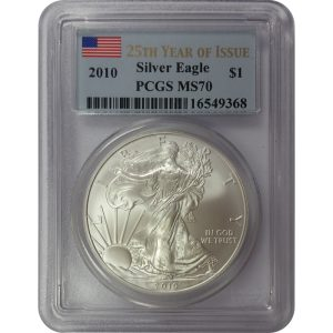 2010 1 oz American Silver Eagle - PCGS MS70 - Nashville Coin Gallery