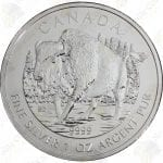 "2013 Canada ""Wildlife"" Series 1 oz silver Wood Bison"