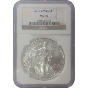 2014 American Silver Eagle - 1 oz - NGC MS69 - Nashville Coin Gallery