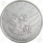 2015 Canada 1 oz silver Great Horned Owl