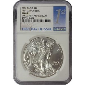 2016 American Silver Eagle - 1 oz - 1st Day - NGC MS69 - Nashville Coin Gallery