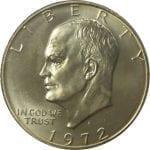 1972 40% Silver Eisenhower Dollar - BU