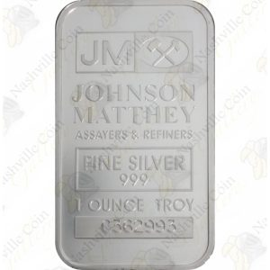 Johnson Matthey 1 oz silver bar