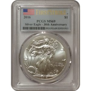 2016 American Silver Eagle - PCGS MS69 First Strike