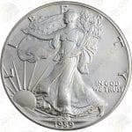 1989 American Silver Eagle -- 1 oz .999 fine silver