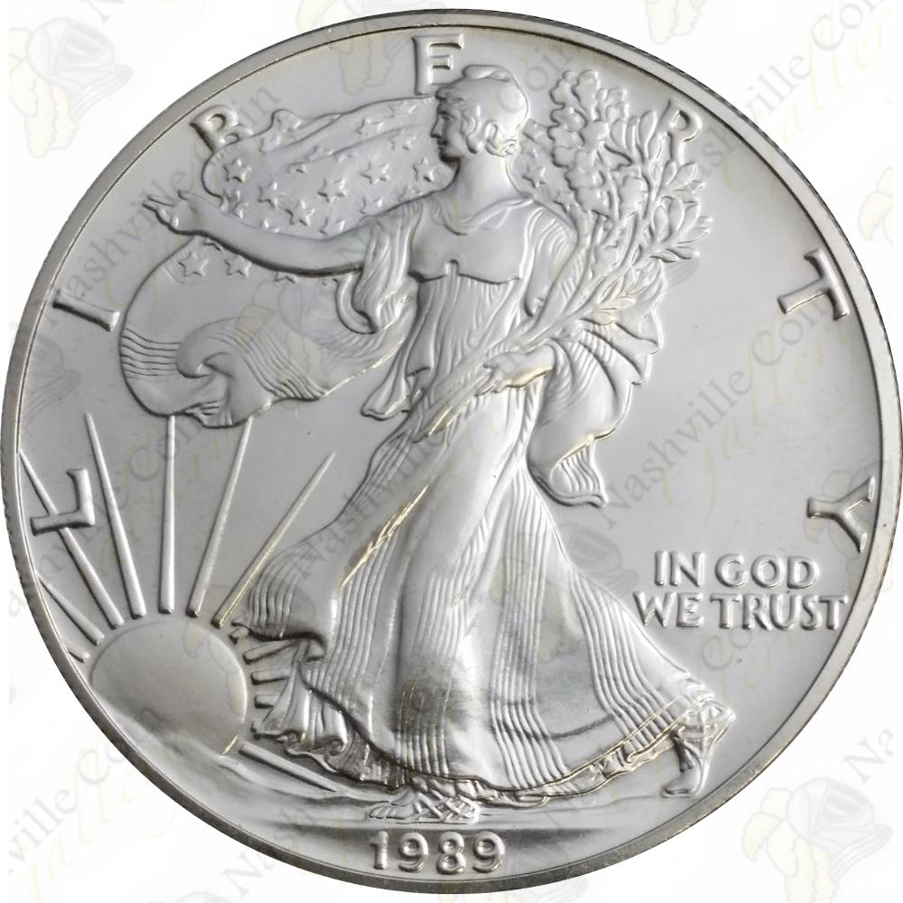 Brilliant Uncirculated 1989 American Silver Eagle