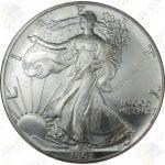 1992 American Silver Eagle -- BU -- 1 oz .999 fine silver