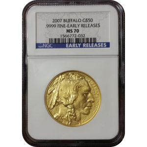 2007 American Gold Buffalo - NGC MS70 Early Releases