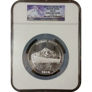 2010 Mount Hood ATB 5 oz Silver - NGC MS69 Early Releases