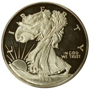 One troy pound (12 troy oz.) .999 fine silver round