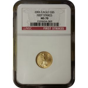 2006 1/10 oz American Gold Eagle - NGC MS70 FIrst Strikes