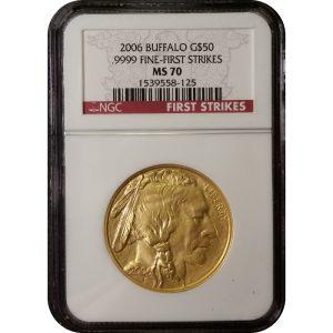 2006 1 oz American Gold Buffalo - NGC MS70 First Strikes