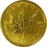 Canadian Gold Maple Leaf 1/20 oz