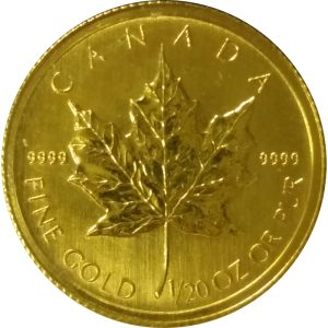Canadian Gold Maple Leaf 1/20 oz
