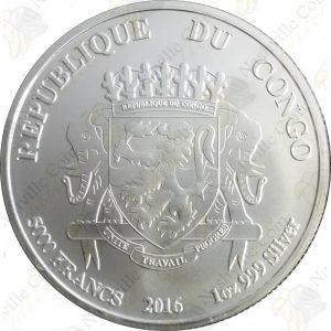 2016 Republic of Congo 1 oz silver African Lion