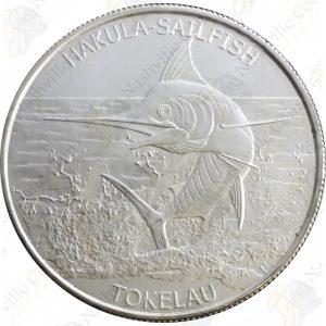 2016 Tokelau 1 oz silver Hakula Sailfish