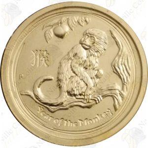 2016 Australia 1/2 oz gold Year of the Monkey