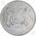 2012 Canada 3/4 oz silver War of 1812