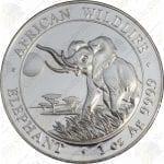 2016 Somalia 1 oz Silver Elephant