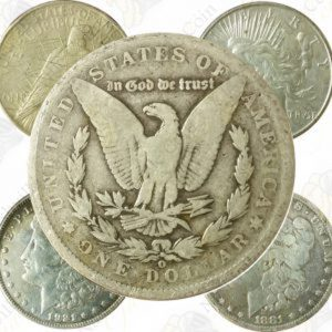 Cull Morgan and / or Peace silver dollars -- 5 coin lot