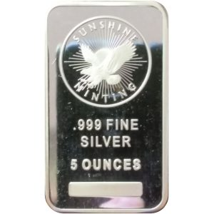 5 oz .999 fine silver bar (generic)