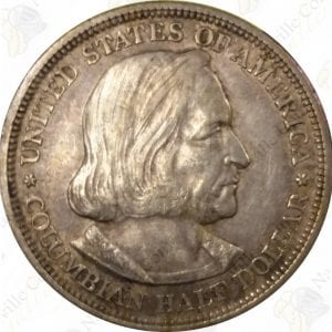 1892 or 1893 Columbian Exposition Commemorative Half Dollar -- XF or better