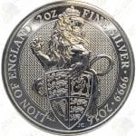 2016 Great Britain Queen's Beasts Lion of England -- 2 oz .9999 fine silver