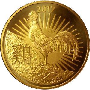 2017 Australian 1 oz Gold Lunar Rooster (Series II)