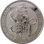 2016 Great Britain 2 oz Silver Lion of England