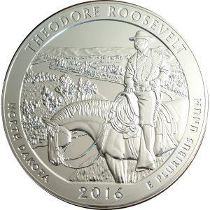 2016 Theodore Roosevelt 5 oz silver America the Beautiful
