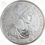 2010 Great Britain 1 oz silver Britannia
