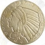 1/10 oz $2.50 Indian .999 fine gold round