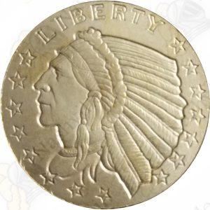 1/10 oz $2.50 Indian .999 fine gold round