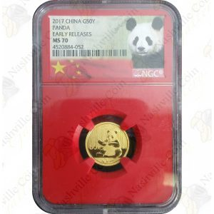 2017 3 gram Chinese Gold Panda -- NGC MS70 Early Releases