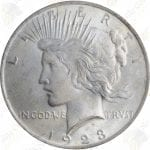 Peace dollar, AU or better, 90% pure silver -- .7734 oz