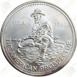 1986 Engelhard 1 oz .999 fine silver Prospector