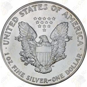 1990 American Silver Eagle -- BU -- 1 oz .999 fine silver