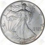 1990 1 oz American Silver Eagle -- BU -- .999 fine silver