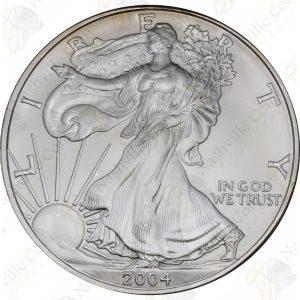 2004 1 oz American Silver Eagle -- BU -- .999 fine silver