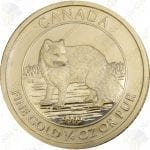 2014 Canada $10 1/4 oz gold Arctic Fox