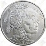 Elemetal 1 oz Buffalo / Indian .999 fine silver round