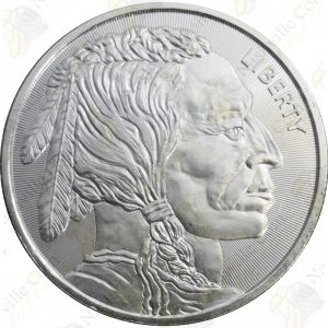 Elemetal 1 oz Buffalo / Indian .999 fine silver round