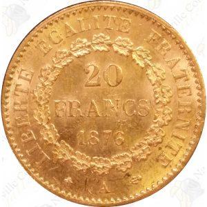 French gold Angel -- .1867 oz fine gold