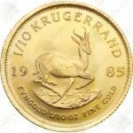 South Africa 1/10 oz Gold Krugerrand